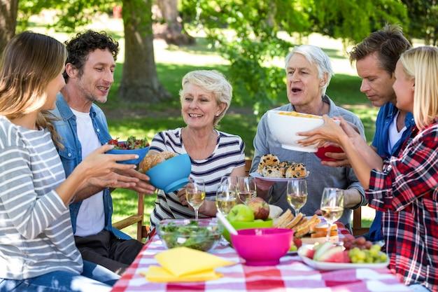 Przyjaciele na pikniku