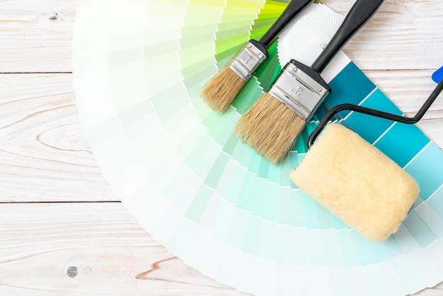 Przykładowy katalog kolorów lub próbnik kolorów