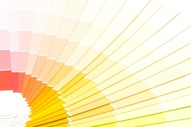 Przykładowy katalog kolorów pantone tło
