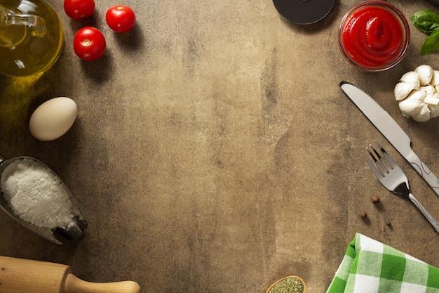 Przyprawa i zioła przy stole