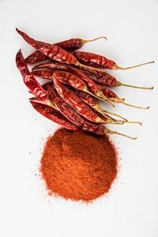 Przyprawa indyjska czerwone chili lub lal mirch w proszku