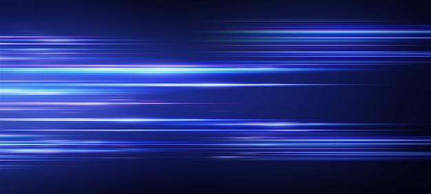 Przyspieszenie prędkości ruchu na drodze w nocy