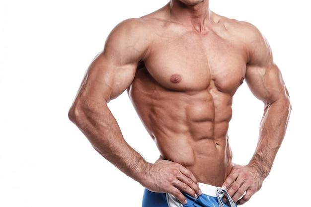 Przystojny, muskularny mężczyzna