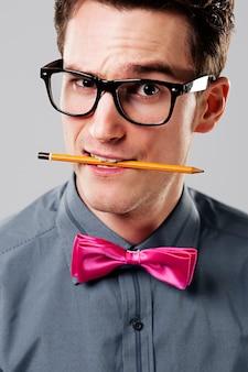 Przystojny nerd