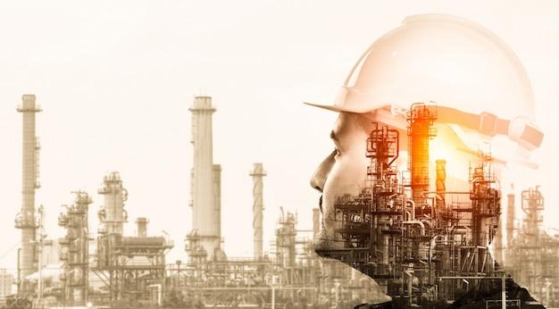 Przyszła fabryka roślin i koncepcja przemysłu energetycznego.