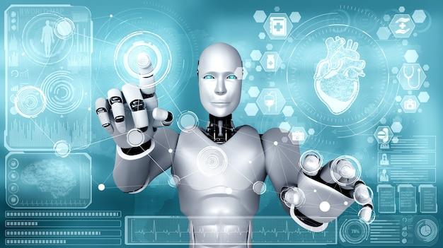 Przyszła technologia medyczna sterowana przez robota ai z wykorzystaniem uczenia maszynowego