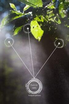 Przyszłe innowacje dla inteligentnego systemu ekologii automatyczna analiza pomiarowa świeżości czystości powietrza
