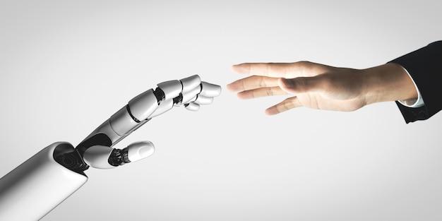 Przyszły robot sztucznej inteligencji i cyborg