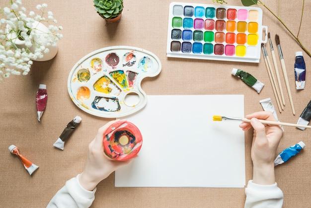 Przytul malowanie rąk