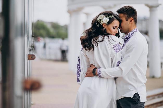 Przytulanie para