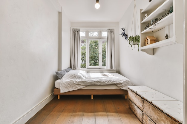 Przytulne wnętrze sypialni