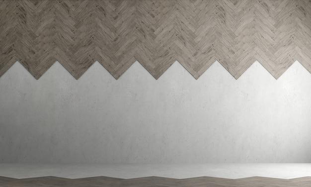 Przytulny wystrój wnętrz i pusty salon oraz pusta betonowa ściana