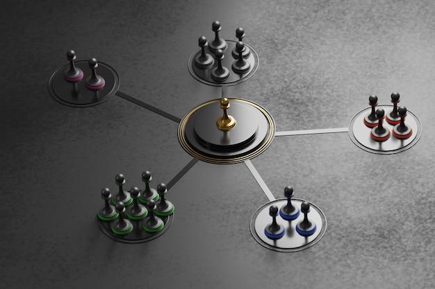 Przywództwo i spójność zespołu na czarno