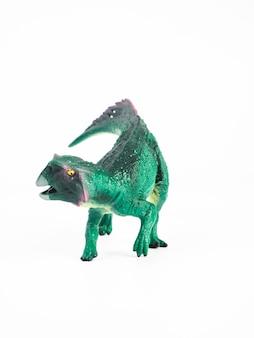 Psittacosaurus dinosaur na białym