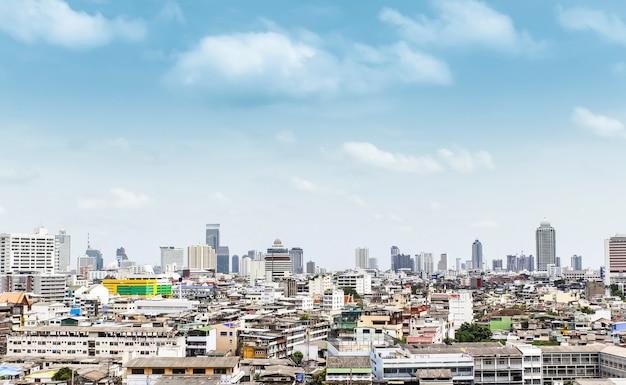 Ptaka oka widok bangkok thailand