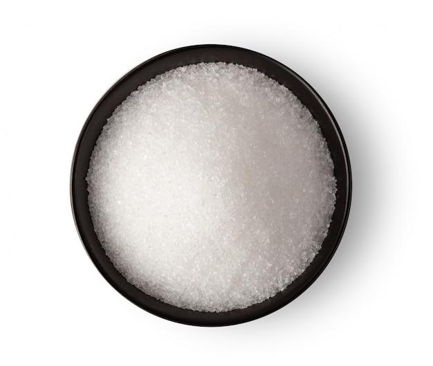 Puchar biały cukier na biel ścianie