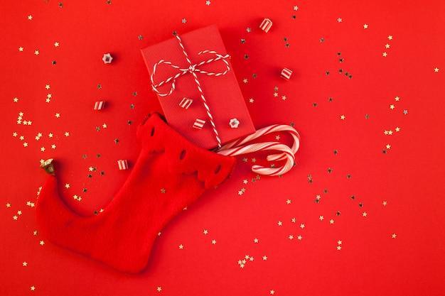 Pudełka na prezenty świąteczne w skarpetce noela