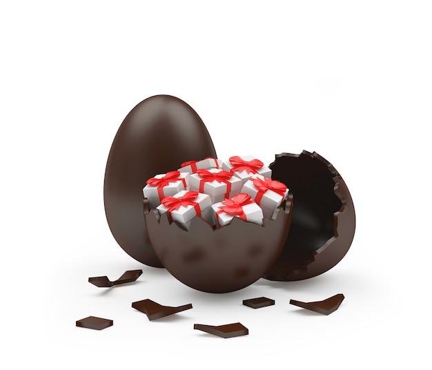 Pudełka na prezenty w czekoladowej skorupce jajka