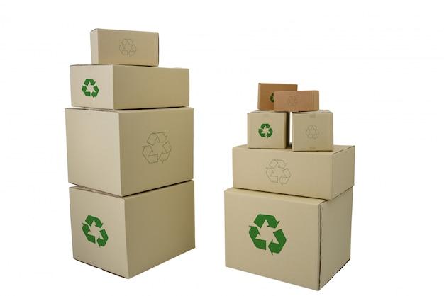 Pudełka z przetwarzają podpisują wewnątrz różnych rozmiary brogujących pudełka odizolowywających