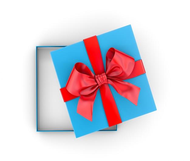 Pudełko lub prezent na białym tle