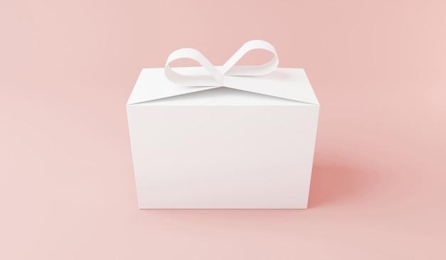 Pudełko makiety projektu renderowania 3d