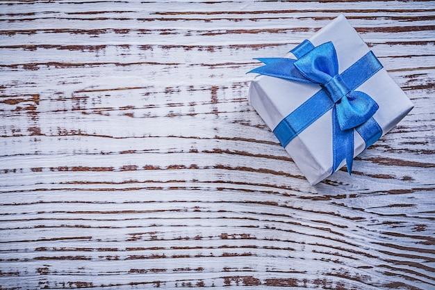 Pudełko na kartkę z życzeniami rocznika drewniana deska