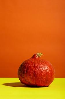 Pumpking na pomarańczowo-żółtym