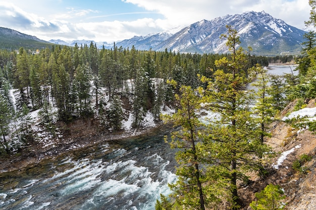 Punkt widokowy na rogu surprise park narodowy banff canadian rockies