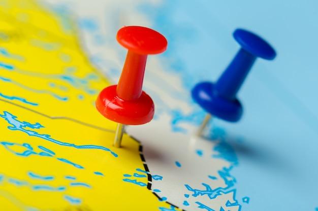 Punkty docelowe podróży na mapie