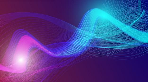 Purpurowy błękit fala abstrakta tło