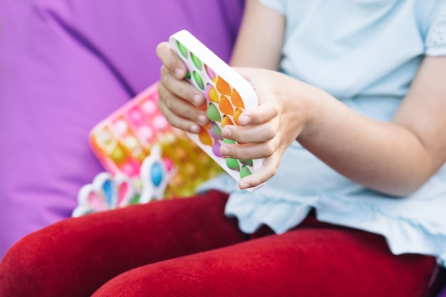 Push pop bubble fidget toys stres wycisnąć zabawki sensoryczne dla dzieci dziecko ręce z antystresem;