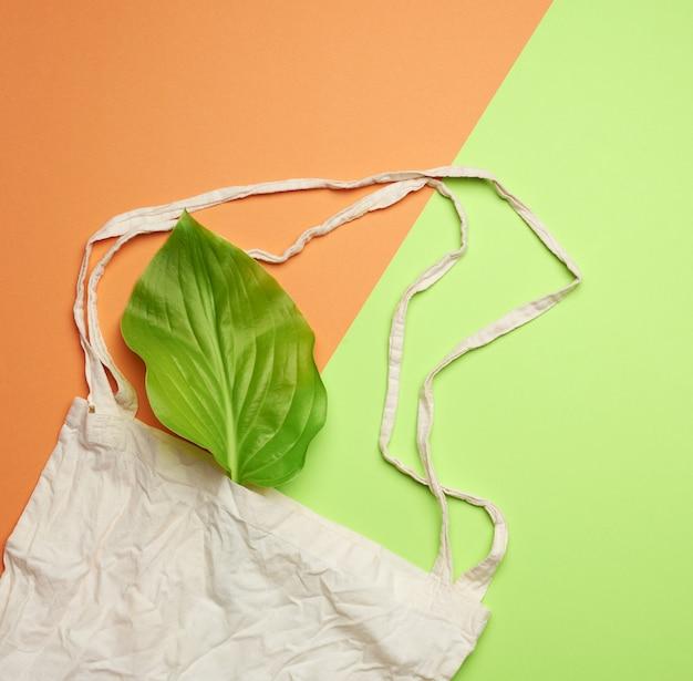 Pusta bawełniana torba na zakupy wielokrotnego użytku z tkaniny