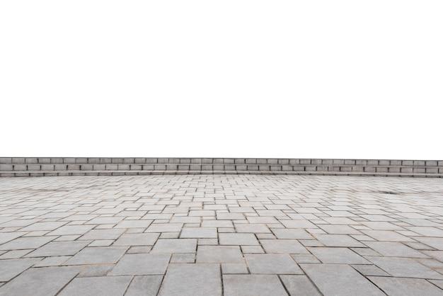 Pusta betonowa podłoga odizolowywająca na białym tle.
