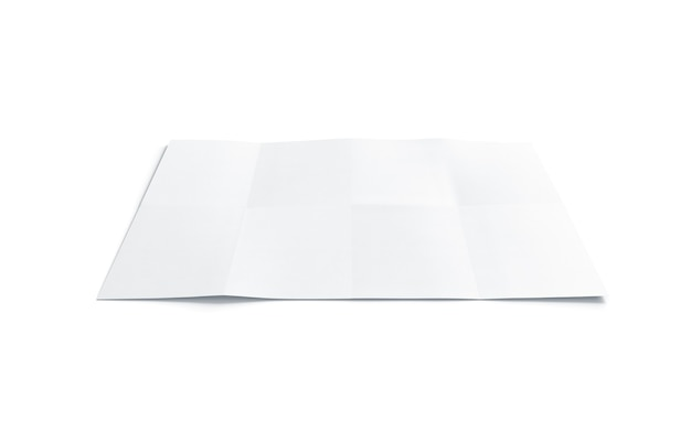 Pusta biała broszura wykresu, na białym tle, renderowania 3d.