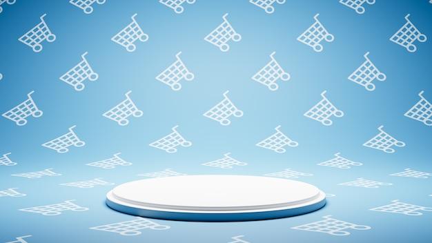 Pusta biała platforma na koszyku shape pattern studio