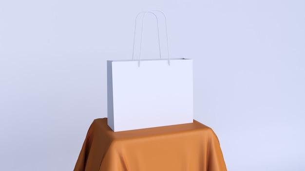 Pusta biała torba na makietę produktu