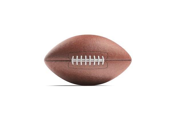 Pusta brązowa piłka do futbolu amerykańskiego, widok z przodu, renderowania 3d.