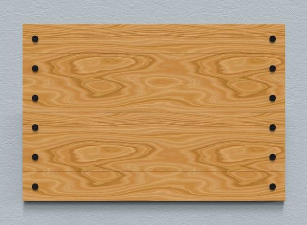 Pusta brown drewniana panel deska na cement ściany tle.