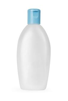 Pusta butelka na białym tle