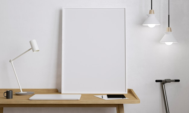 Pusta deska na drewnianym stole