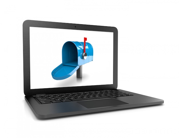 Pusta elektroniczna skrzynka pocztowa