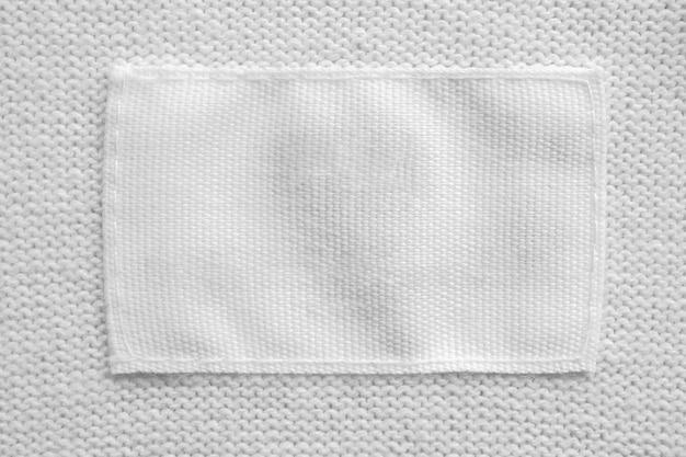 Pusta etykieta na pranie