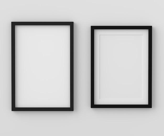 Pusta fotografii rama dla mockup, 3d odpłaca się, 3d ilustracja