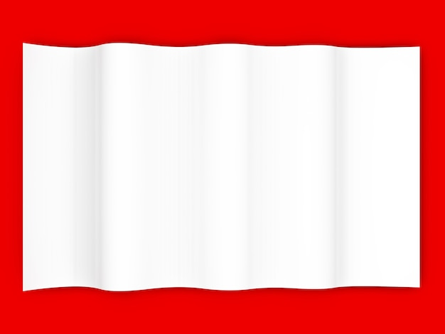 Pusta kartka papieru. 3d renderowane ilustracja.