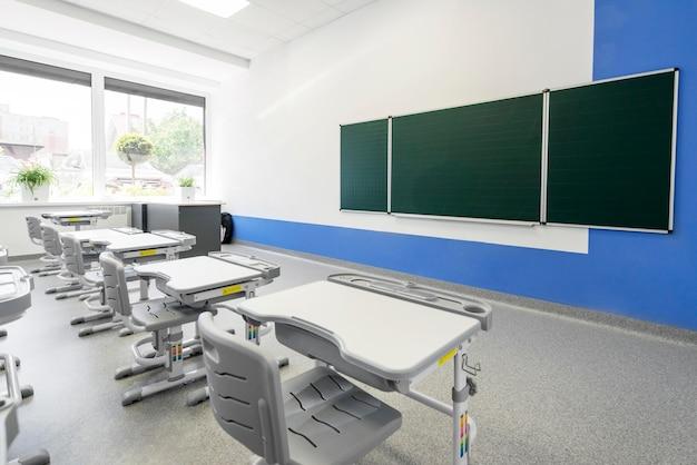 Pusta klasa bez uczniów