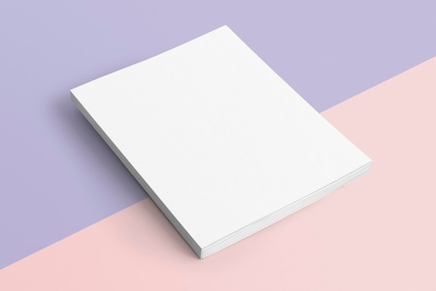 Pusta książka na pastelowym tle