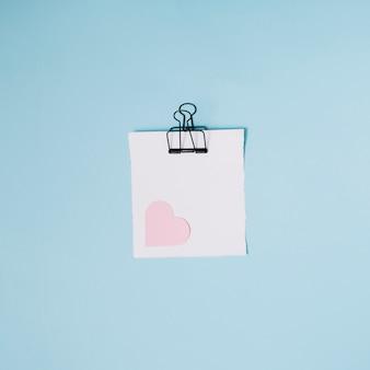 Pusta notatka z sercem