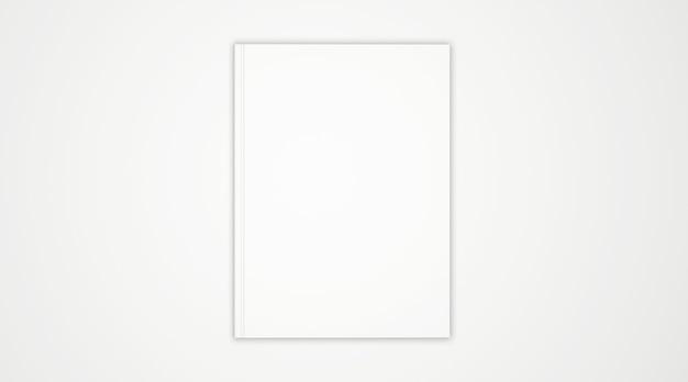 Pusta okładka książki na białym tle