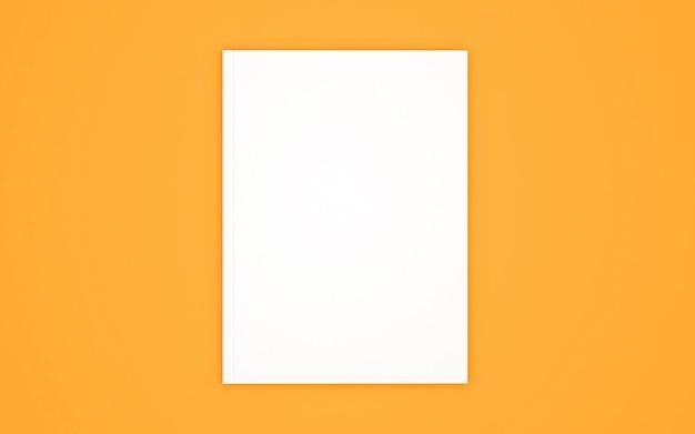 Pusta okładka książki na żółto