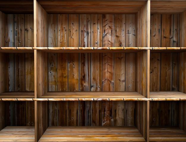 Pusta półka z drewna